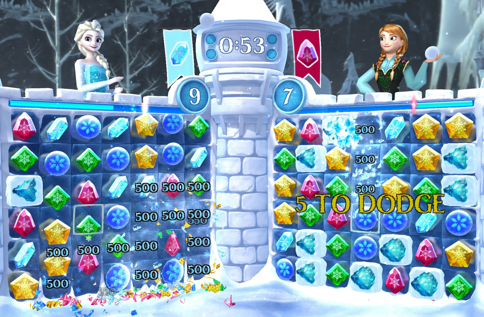 Frozen Free Fall: Snowball Fight Gallery