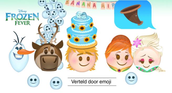 Frozen Fever verteld door emoji