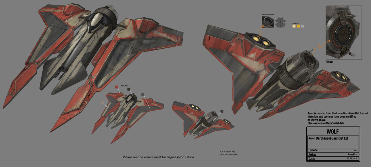 Maul S Personal Ship Gauntlet From Tcw Rebels Is