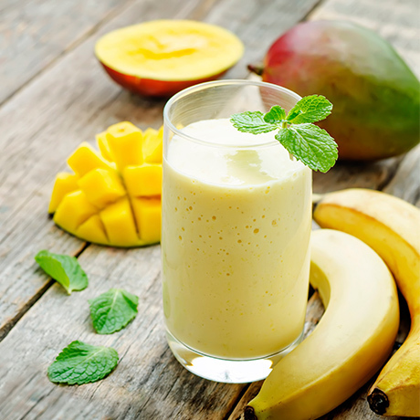 Mowgli's Mango Go Pineapple Smoothie