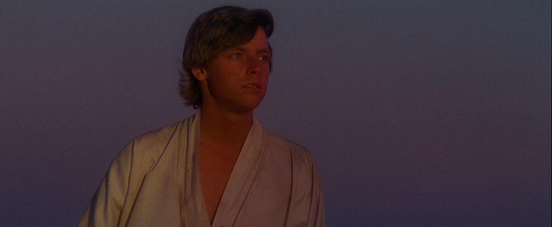 Ο Luke ατενίζει το ηλιοβασίλεμα
