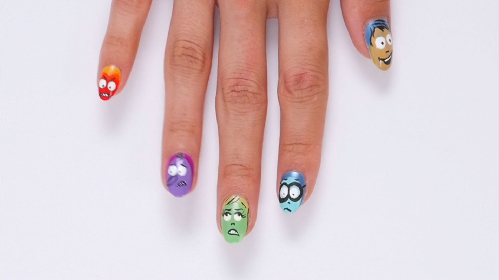 Inside Out Nail Art | Disney Style