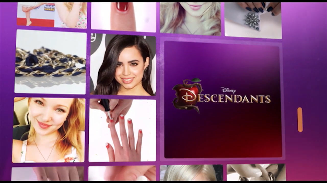 Descendants-inspired Nail Art: Mal