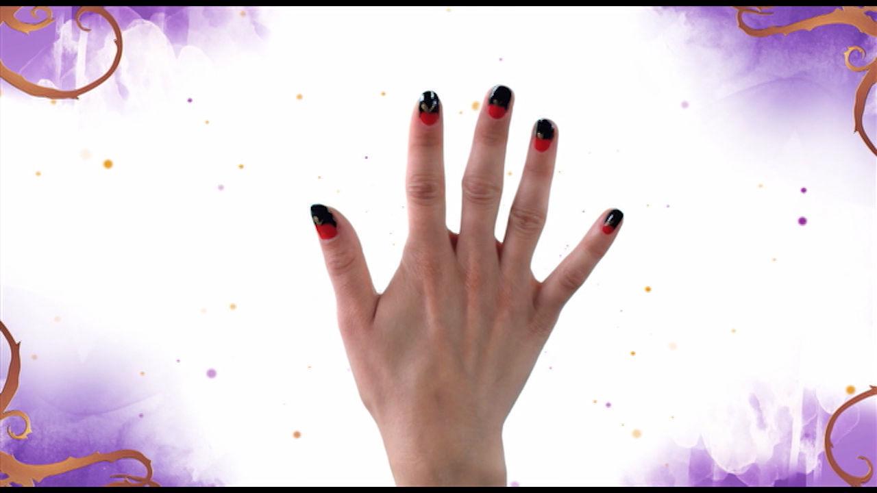 Descendants-inspired nail art: Evie