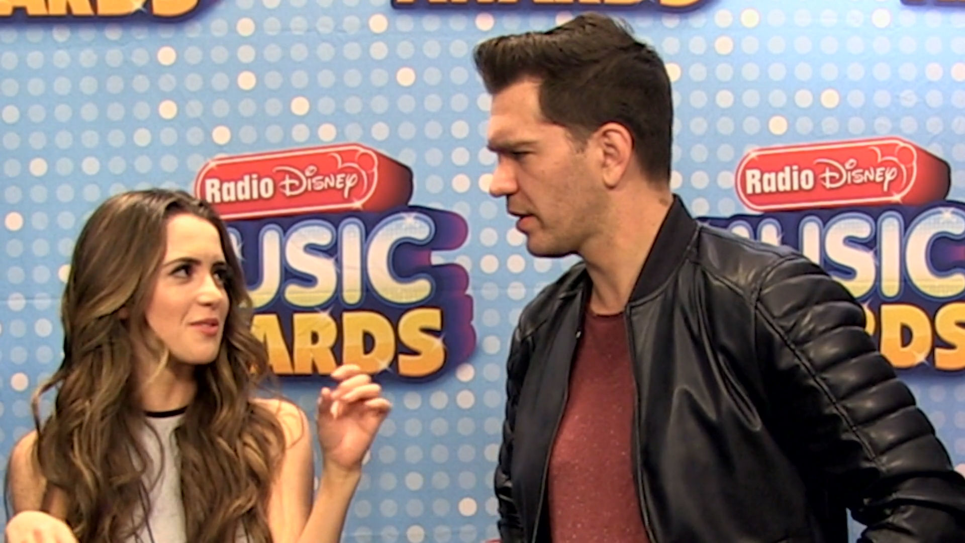 Andy Grammer and Laura Marano Make Up RDMA Dance Moves | Radio Disney Music Awards | Radio Disney