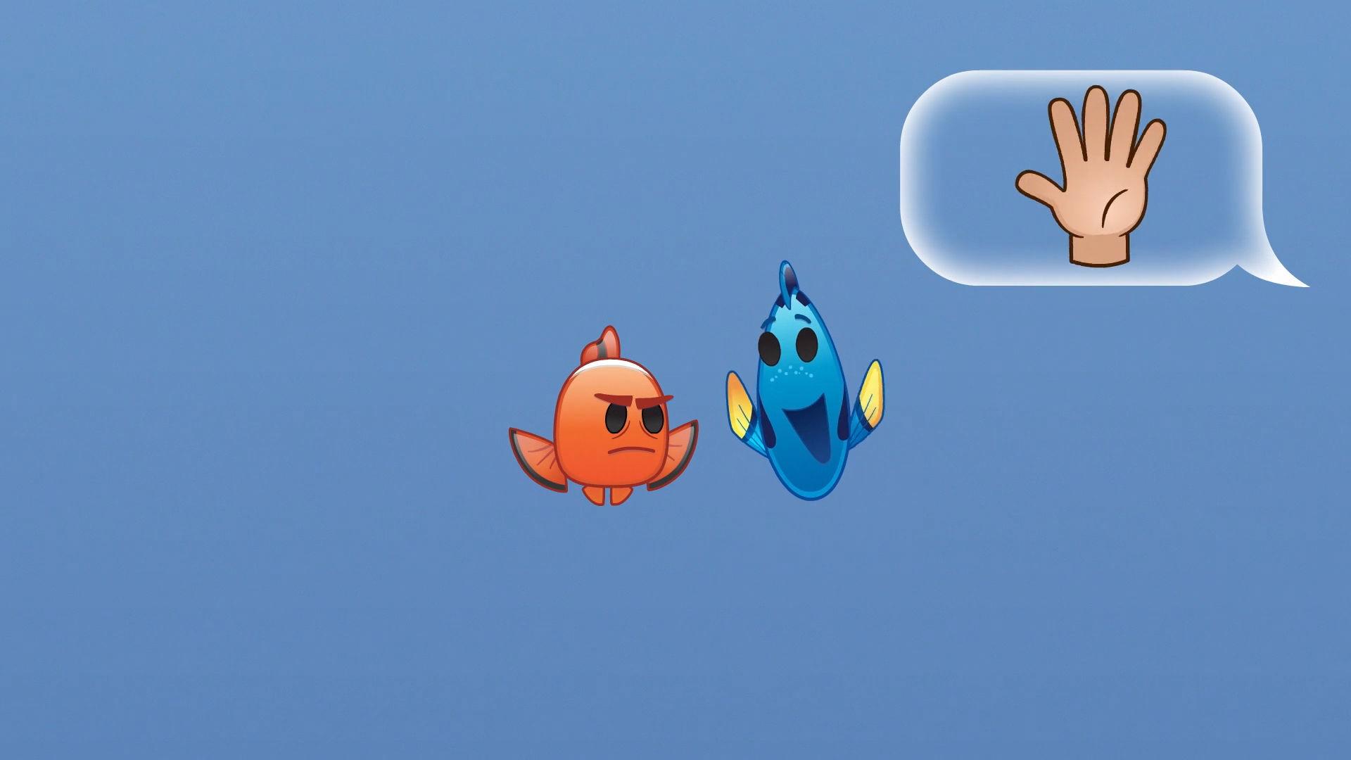 Find Nemo fortalt med Emoji