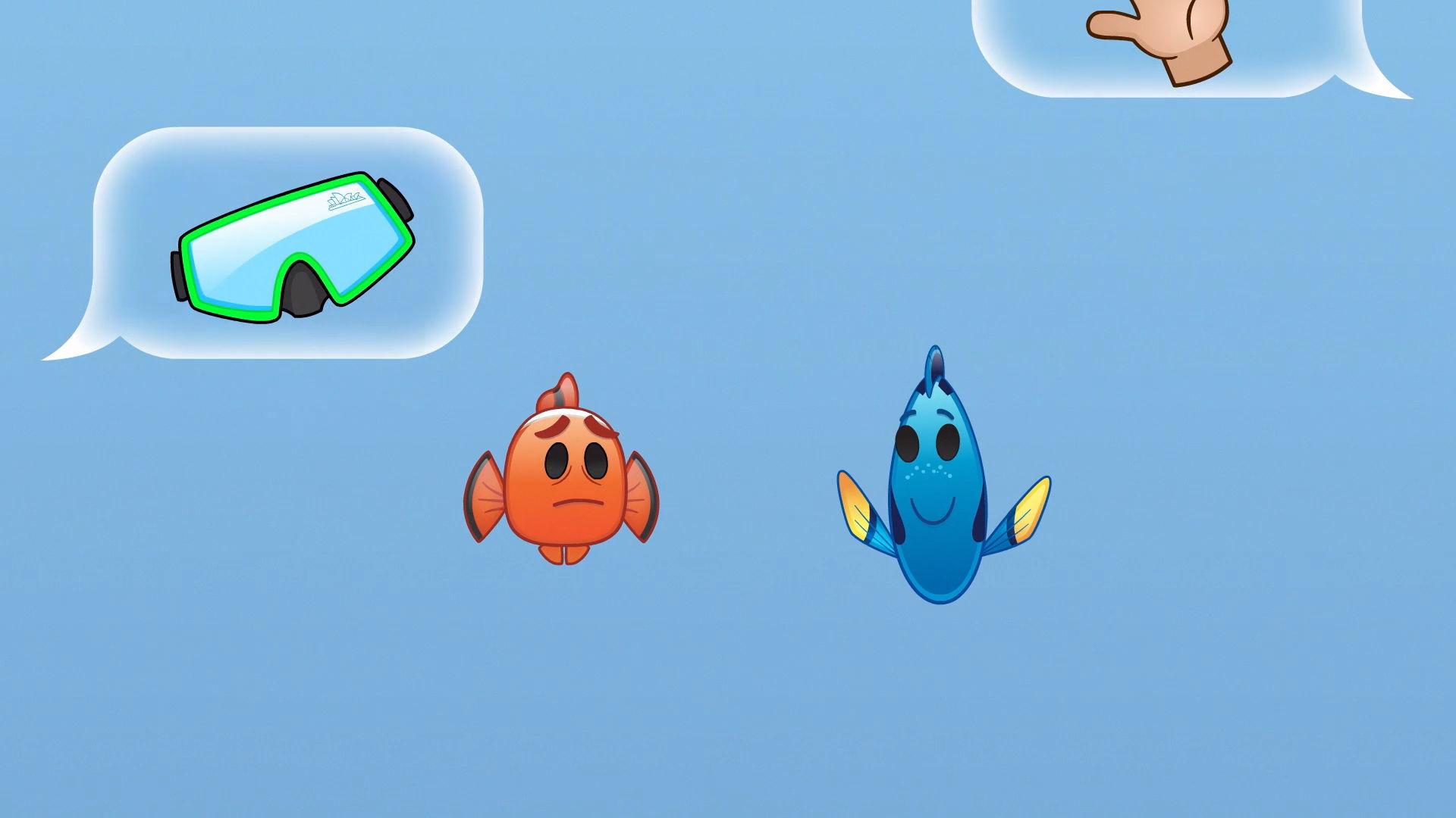 Oppdrag Nemo fortalt av emoji