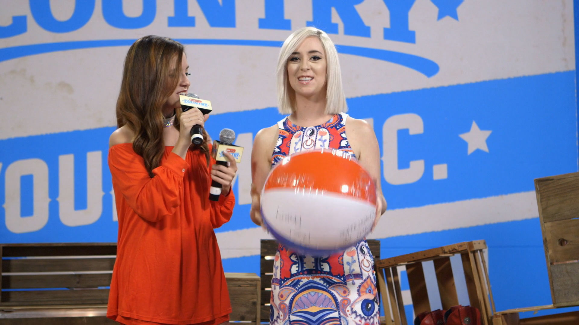 Megan & Liz - Beach Ball Song Challenge | Radio Disney Country