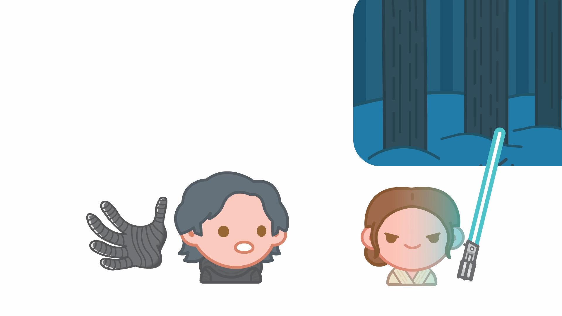 """מלחמת הכוכבים, """"הכח מתעורר"""", לפי אמוג'י!"""