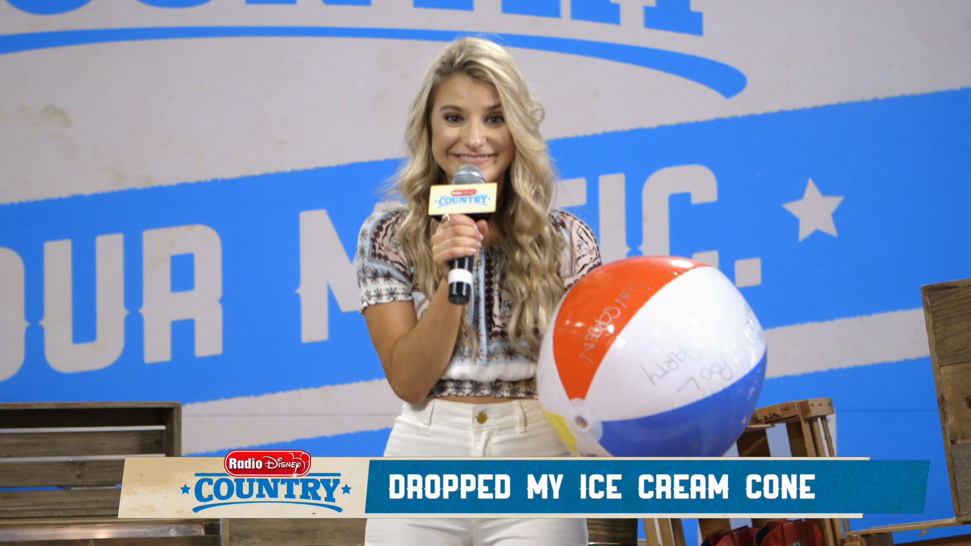 April Kry - Beach Ball Song Challenge | Radio Disney Country