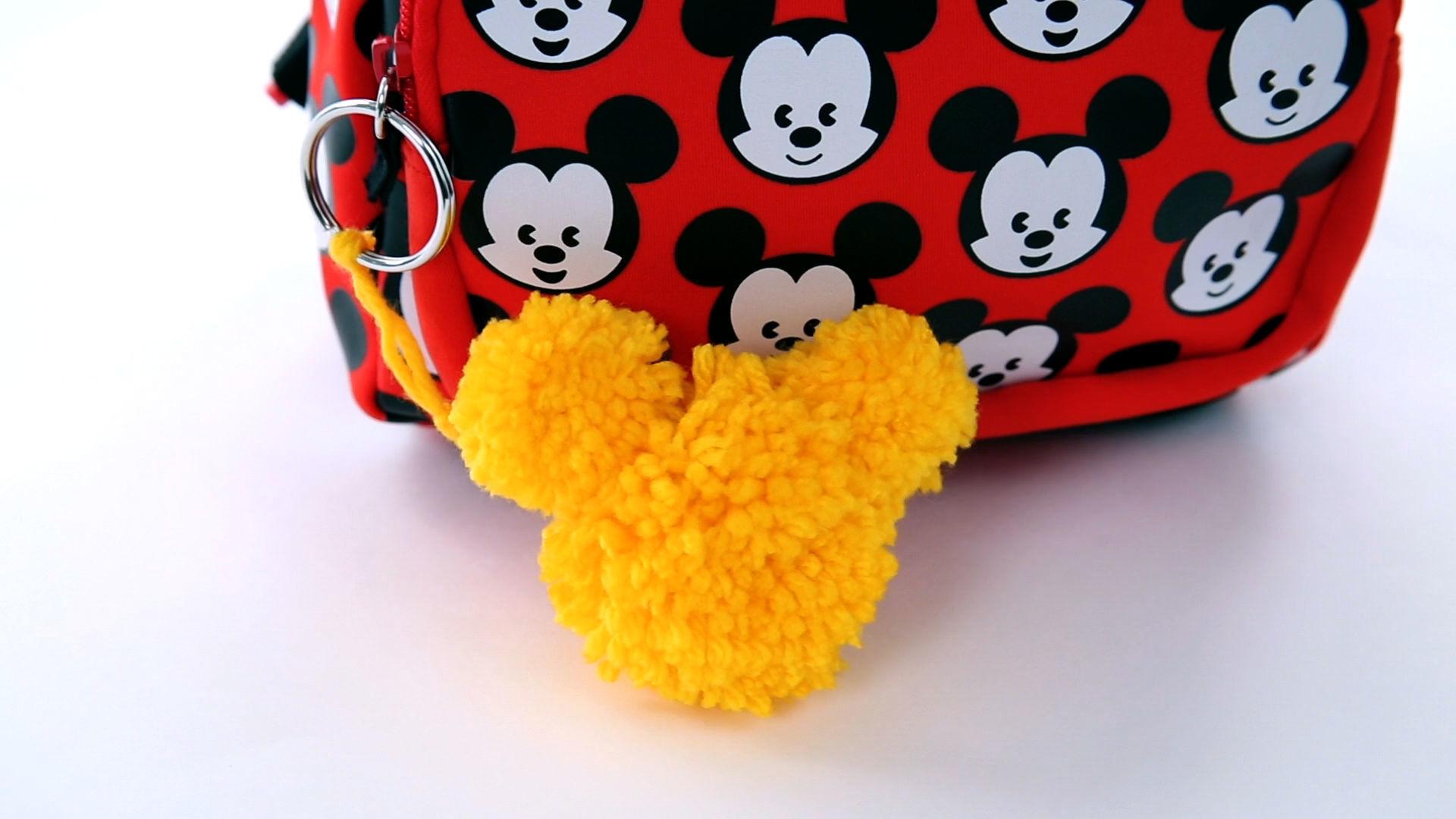 Mickey Pom-Pom Keychain   Disney DIY