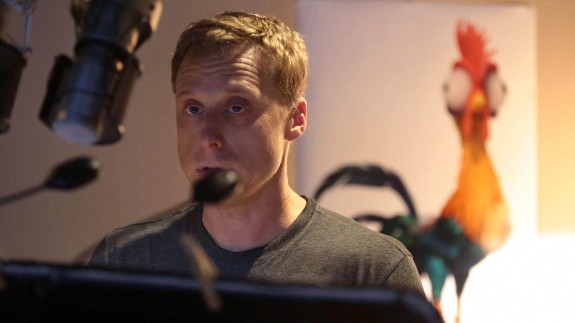 #MoanaMondays - Alan Tudyk Recording for Hei Hei