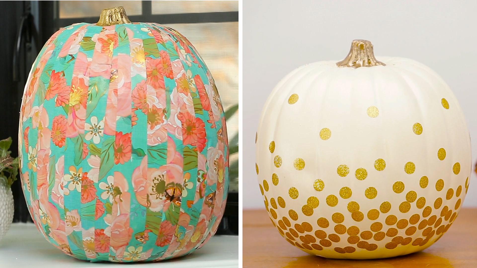 No-Carve Pumpkins: 2 Ways | Babble DIY