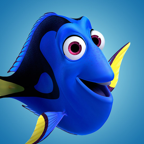 Characters finding nemo disney movies for Picture of dory fish