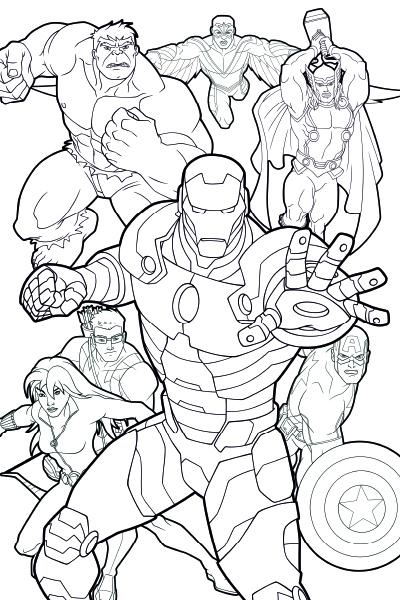 Colorea a los Vengadores 1
