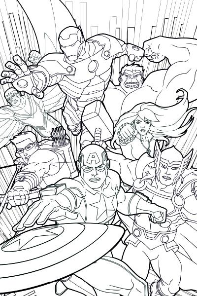 Colorea a los Vengadores 2