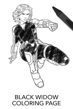 avengers coloring pages black widow - photo#17
