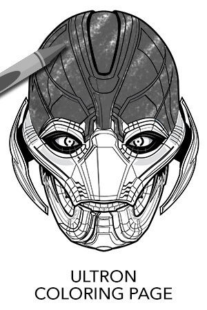 Avengers Ultron Coloring Page