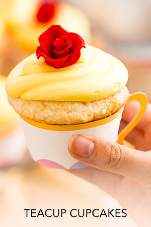 Beauty and the Beast - Teacup Cupcakes