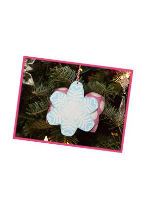 Minnie & Daisy's Snowflake Bow Ornament