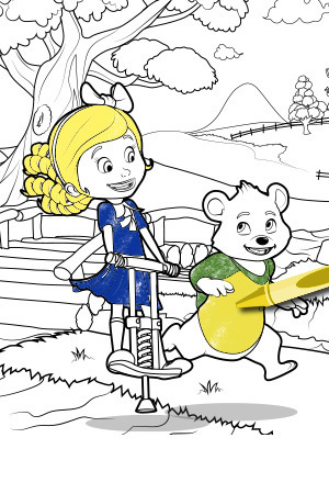 Goldie & Bear - Coloring Page