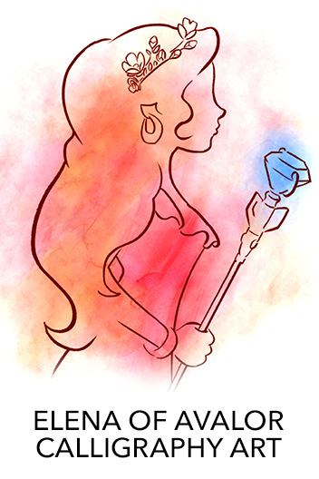 Elena of Avalor - Calligraphy Poster