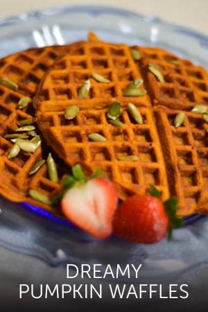 Cinderella's Dreamy Pumpkin Waffles