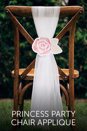 Princess Party Chair Applique