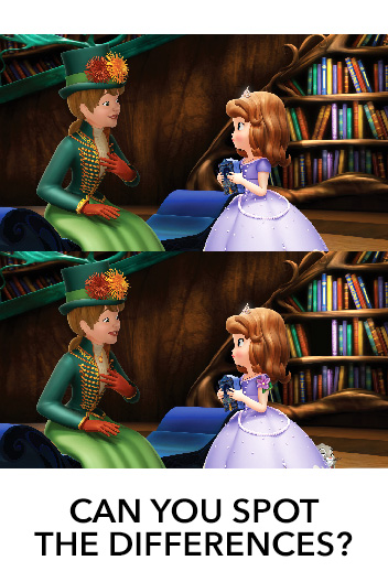 Sofia the First - TSL - Spot the Differences