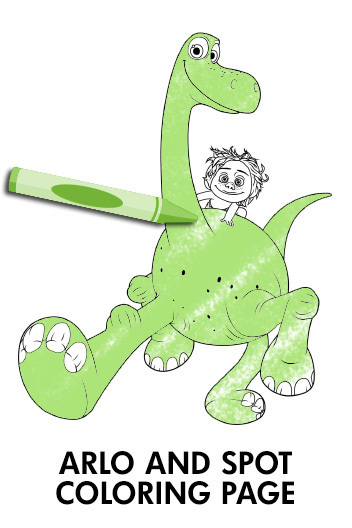 The Good Dinosaur - Coloring Page - Arlo & Spot