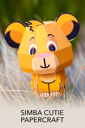 Simba Cutie Papercraft