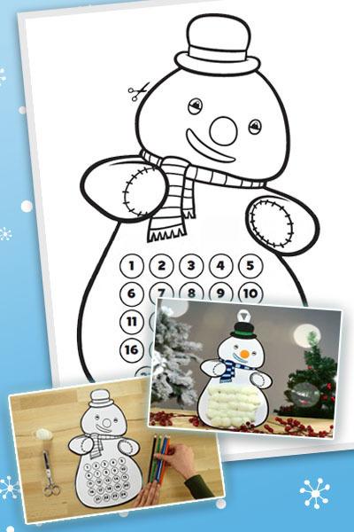 Calendario de Adviento de Tiritón, el muñeco de nieve