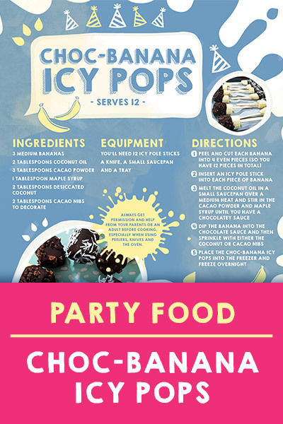 DC Landing AU - BF Chefs - Choc-Banana Icy Pops