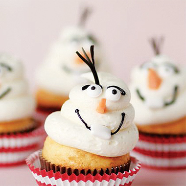 Olaf Inspired Cupcakes