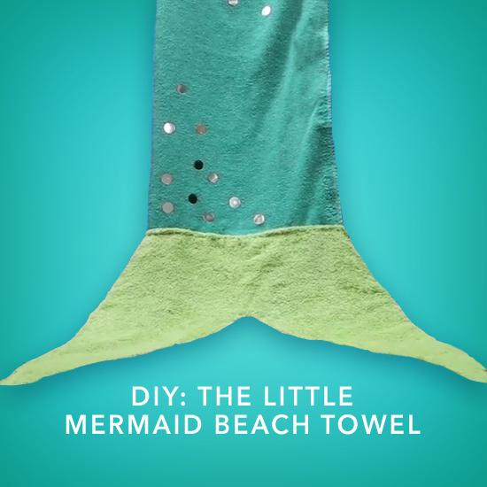DIY The Little Mermaid Beach Towel