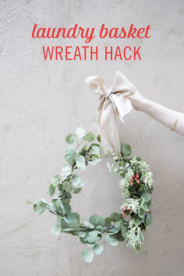 Babble Laundry Basket Wreath Hack