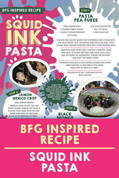 DC Landing AU - BF Chefs - Squid Ink Pasta