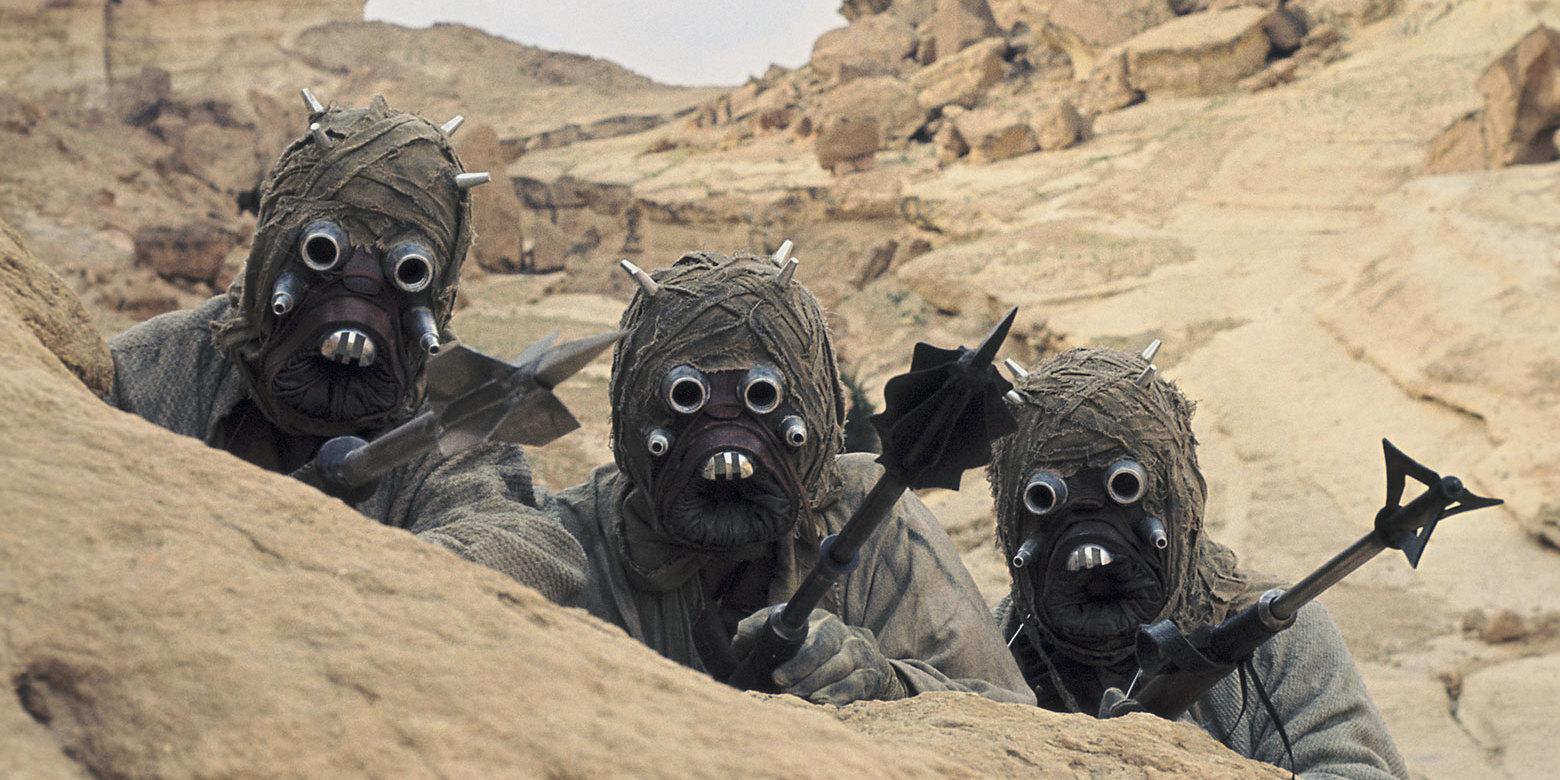 Los Tuskan Raiders han aparecido dos veces en la saga, en el Episodio IV y en el Episodio II