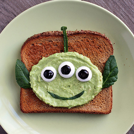 Alien-toast met avocado