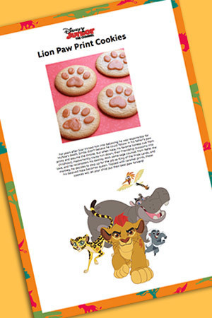 Lion Paw Cookies