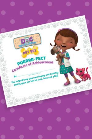 Pet Vet Certificate
