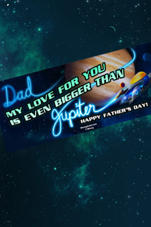 Miles from Tomorrowland Father's Day Jupiter Card