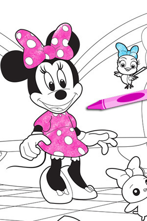 Minnie 39 s bow toons figaro 39 s friend disney junior india for Minnie mouse bowtique coloring pages