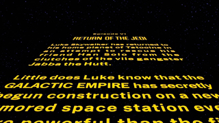 Star Wars: Episode VI Return of the Jedi - Opening Crawl