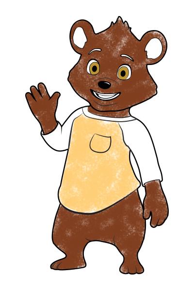 Björn – färgläggningssida