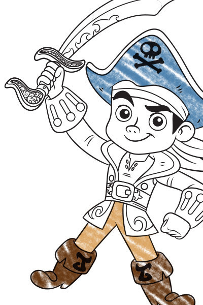 Disney Junior Coloring Pages Jake : Jake en de nooitgedachtland piraten disney junior