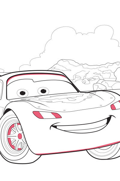 Lightning McQueen Colouring Page