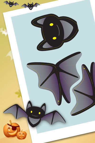Halloween - Hanging Batty Bat Decorations
