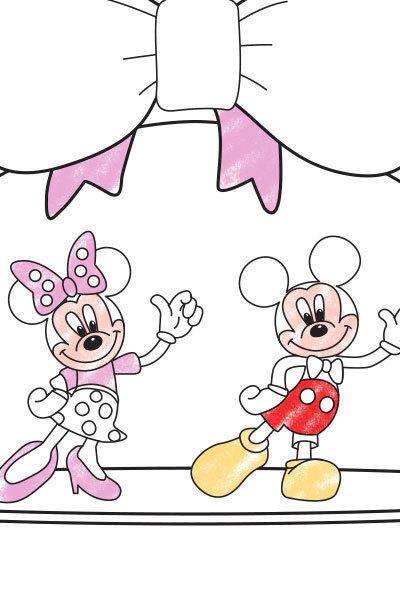 ברכת יום האהבה לצביעה של מיקי ומיני