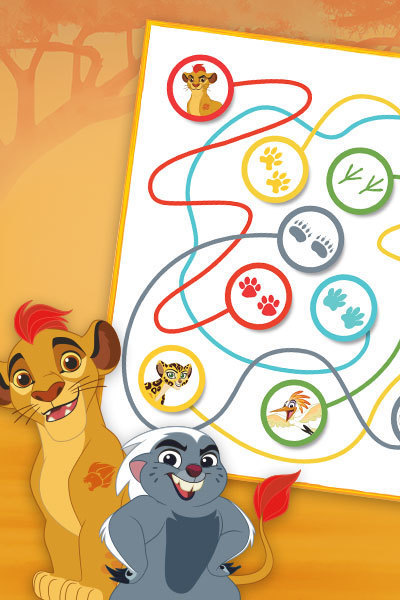 The Lion Guard - Footprint Maze
